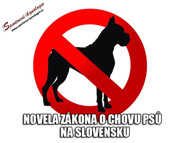Novela zákona o chovu psů – zákaz některých plemen